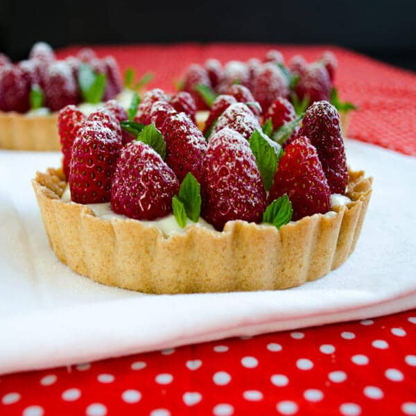 #Strawberry #Pie with Vanilla #Pudding