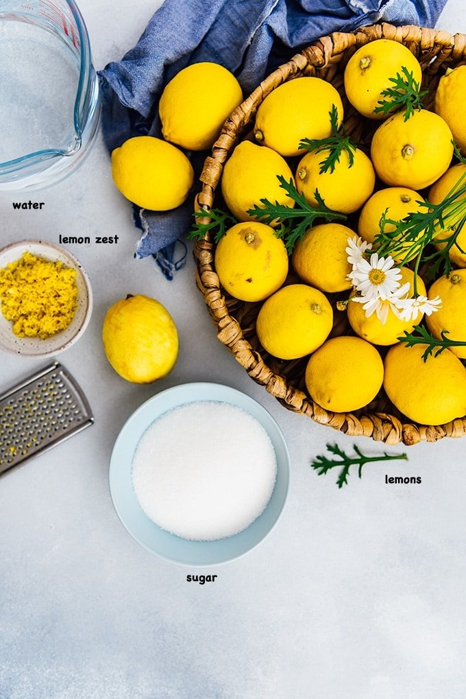 Lemon jam recipe ingredients