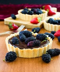 #Mulberry and #Chocolate #Tart