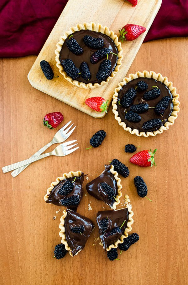 Mulberry and Chocolate Tart5