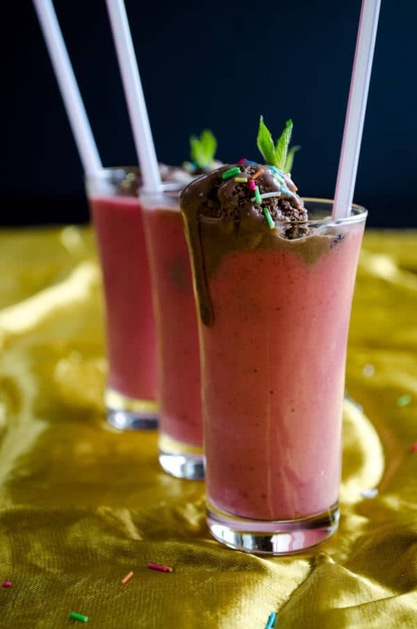 Simple #Strawberry #Milkshake