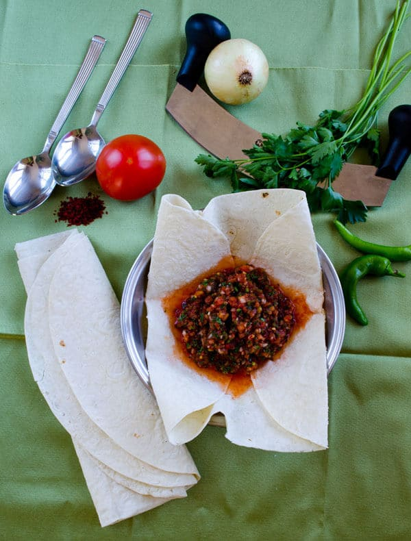 Turkish Spicy Ezme Salad | #turkish #ezme #spicy #salad #mezze | giverecipe.com