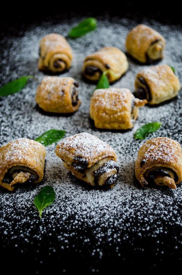 #Chocolate Puff #Pastry Rolls