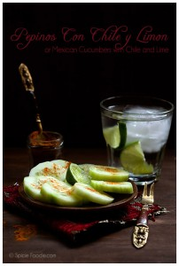 Mexican Cucumbers with Chile and Lime- Guest Post