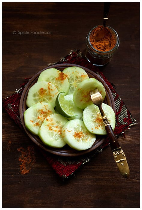 Mexican Cucumbers with Chile and Lime