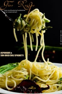 #Asparagus #Pasta with Sun-Dried Chili