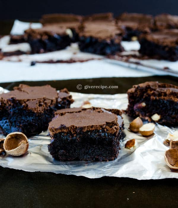 Double Chocolate Brownies | #chocolate #brownies #dessert | giverecipe.com