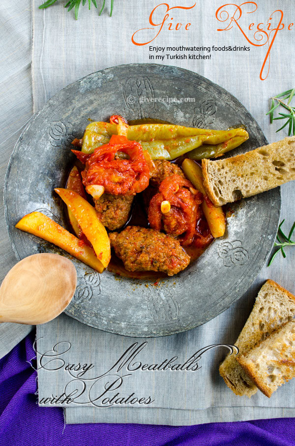 Easy #Meatballs with Potatoes