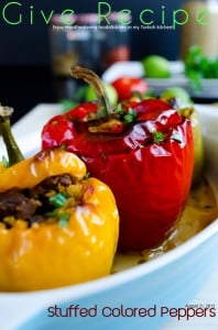 Bell Peppers Stuffed with Freekeh and Lamb | #bellpeppers #stuffed #freekeh #lamb #turkish | giverecipe.com @zerringunaydin