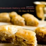 Homemade Baklava for Eid