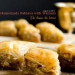 Homemade Baklava for Eid