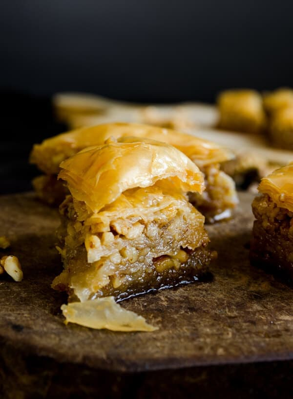 Homemade Baklava for Eid | #baklava #dessert #turkish #middleeast #walnut #syrup | giverecipe.com