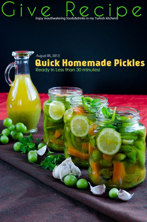 Quick Homemade Pickles - Give Recipe