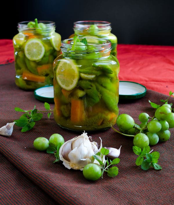 Quick Homemade Pickles | #pickles #grape #unripe #vinegar #pickling ...