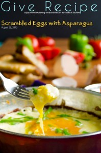 Scrambled Eggs with Asparagus | #asparagus #eggs #breakfast | giverecipe.com