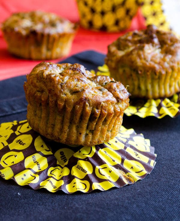 Whole Wheat Cheese and Zucchini Muffins 2