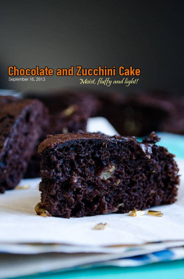 Chocolate and Zucchini Cake 1