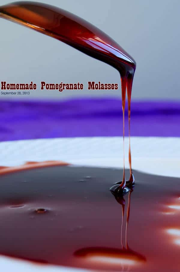Homemade Pomegranate Molasses 1