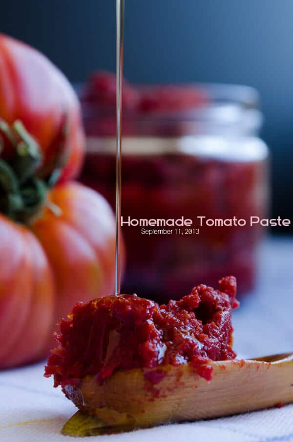 How to Make Tomato Paste | giverecipe.com | #tomato #tomatopaste #fall