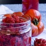 How to Make Tomato Paste | giverecipe.com | #tomato #tomatopaste #fall