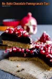 No-Bake Chocolate Pomegranate Tart