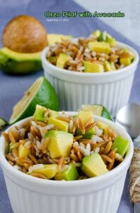 Orzo Pilaf with Avocado