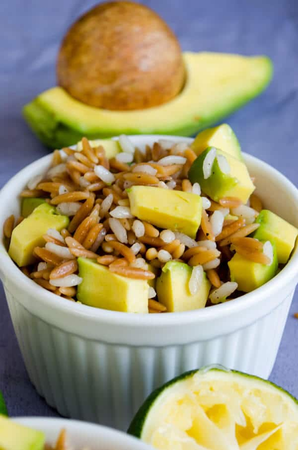 Orzo Pilaf with Avocado | giverecipe.com | #orzo #pilaf #avocado