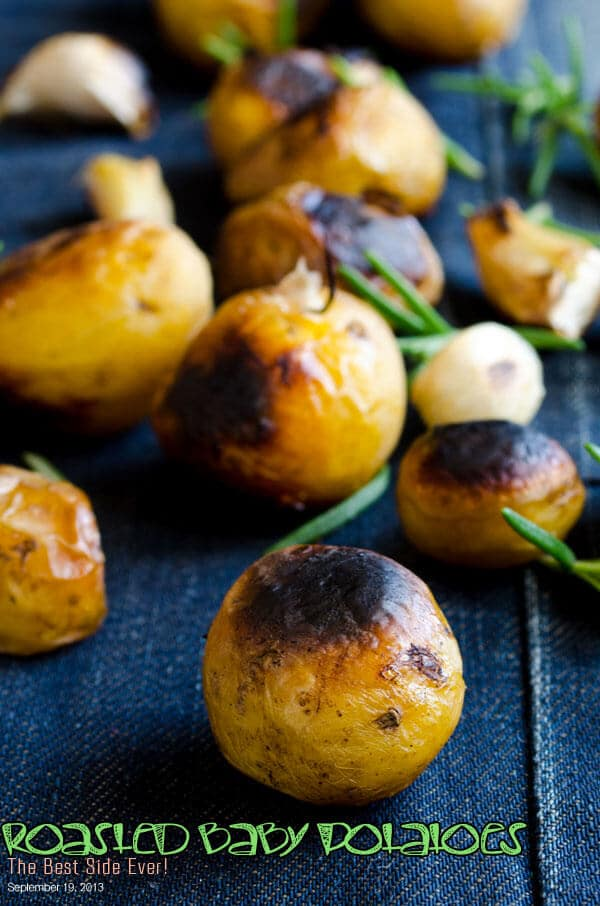 Roasted Baby Potatoes | giverecipe.com | #potatoes #side