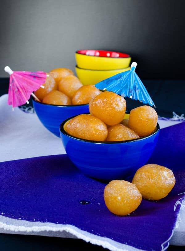 Turkish Lokma | #turkish #lokma #syrup #dessert #fried #middleeast | giverecipe.com