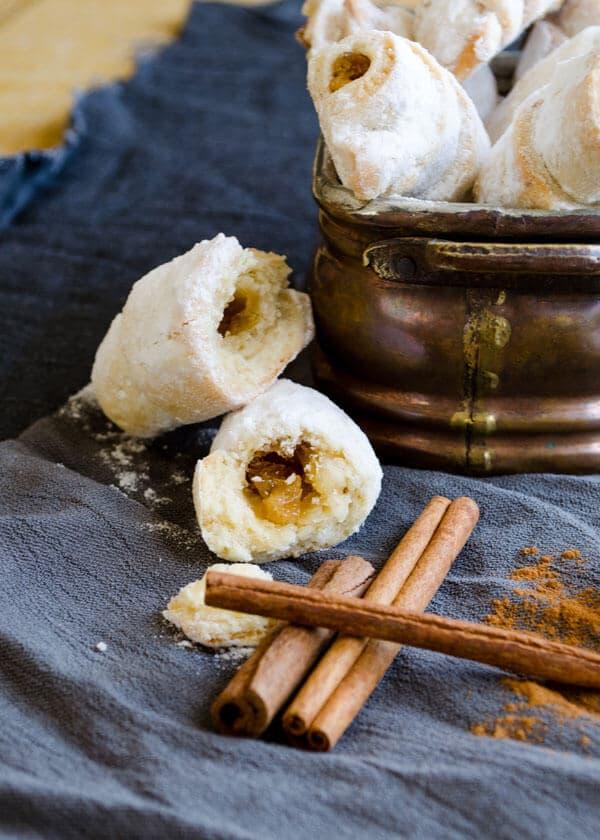 Cinnamon Walnut and Apple Rolls | giverecipe.com | #apple #cookies #cinnamon #walnut
