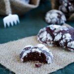 Crackle Top Brownie Cookies | giverecipe.com | #cookies #brownie #chocolate