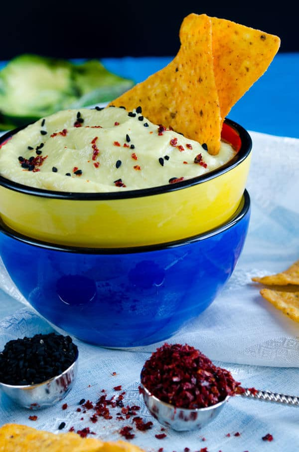 Creamy Avocado Dip with Lemon | giverecipe.com | #avocado #dip #nigella #appetizer