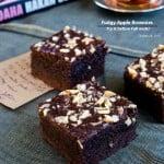 Fudgy Apple Brownies | giverecipe.com | #apple, #chocolate #brownies