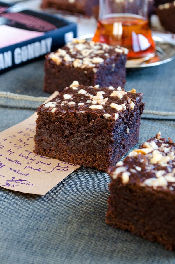 Fudgy Apple Brownies | giverecipe.com | #apple, #chocolate #brownies