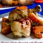 Roasted Chicken Drumsticks with Pumpkin