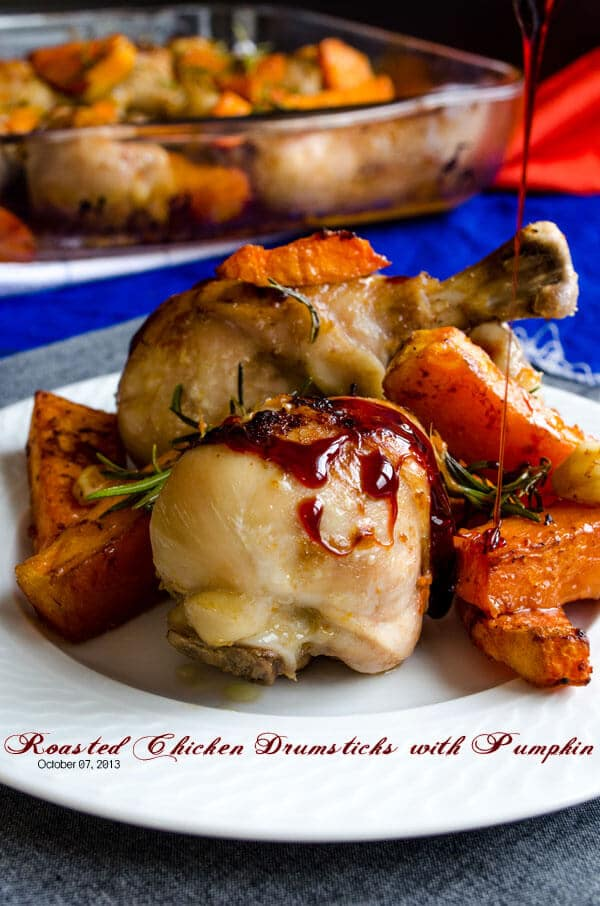 Roasted Chicken Drumsticks with Pumpkin 1