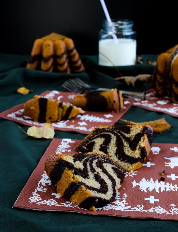 Zebra Cake with Mineral Water | giverecipe.com | #cake #zebracake