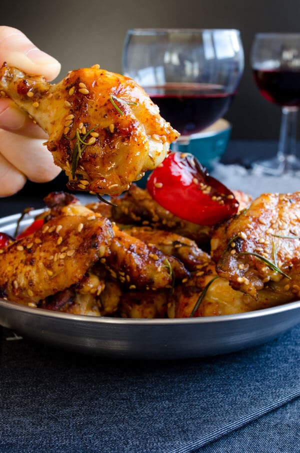 Honey Sesame Chicken Wings | giverecipe.com| #chicken #sesame #appetizer #chickenwings #partyfood
