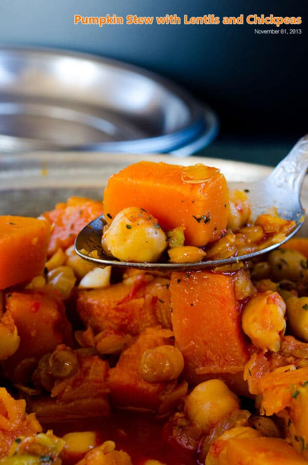 Pumpkin Stew with Lentils and Chickpeas 1