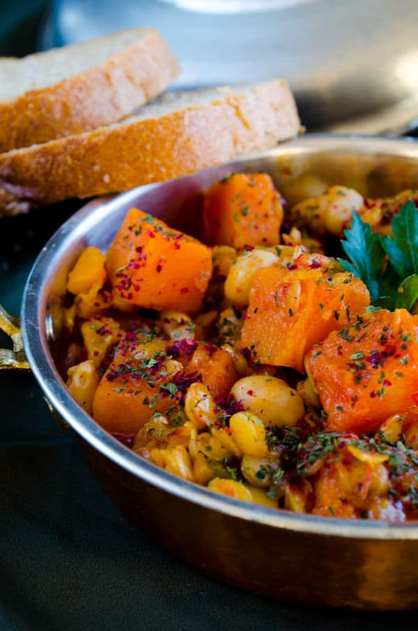 Pumpkin Stew with Lentils and Chickpeas | giverecipe.com | #pumpkin # ...