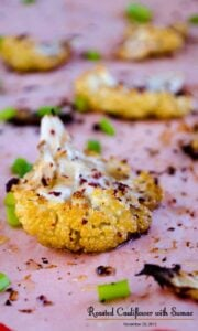 Roasted Cauliflower with Sumac | giverecipe.com | #cauliflower #sumac #appetizer
