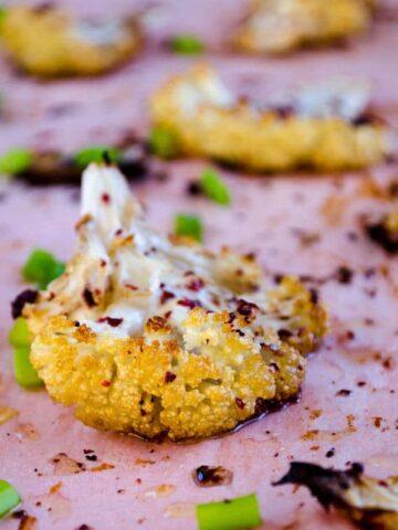 Roasted Cauliflower with Sumac | giverecipe.com | #cauliflower #sumac #appetizer
