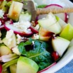 Tangy Spinach and Apple Salad