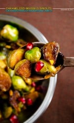 Citrus caramelized brussels sprouts with pomegranate molasses | giverecipe.com | #brusselssprouts #pomegranate #citrus
