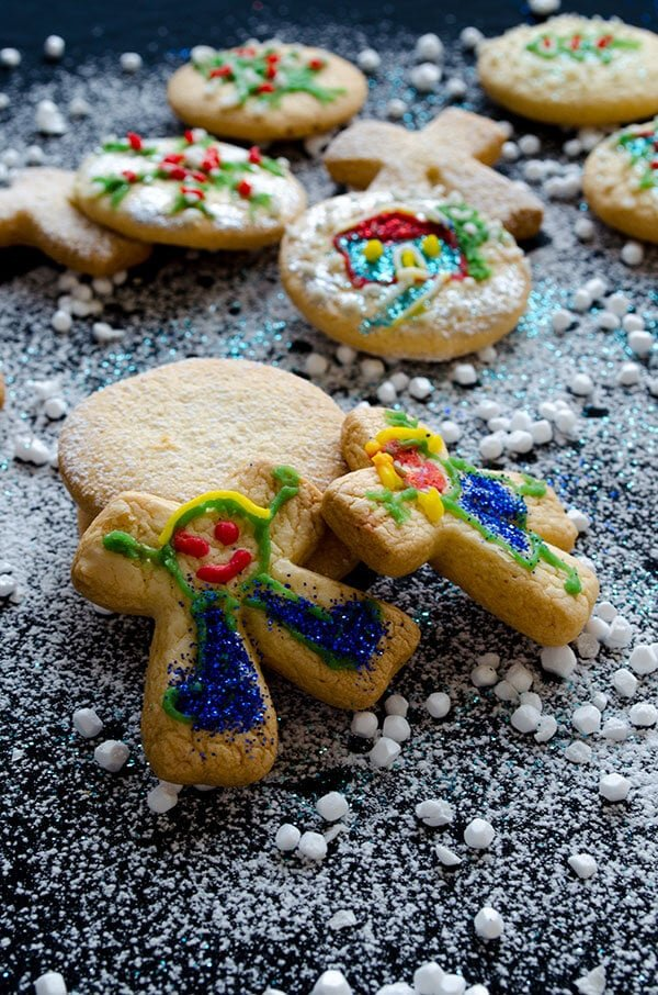 Decorated Ginger Cut-Out Cookies | giverecipe.com | #cookies #ginger #christmas #newyear #cutouts