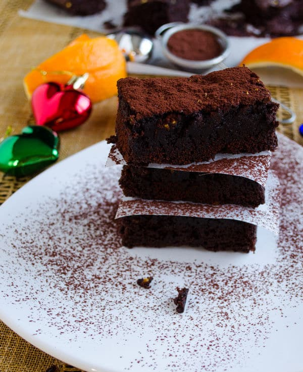 Orange Chocolate Brownies | giverecipe.com | #brownies #chocolate #orange