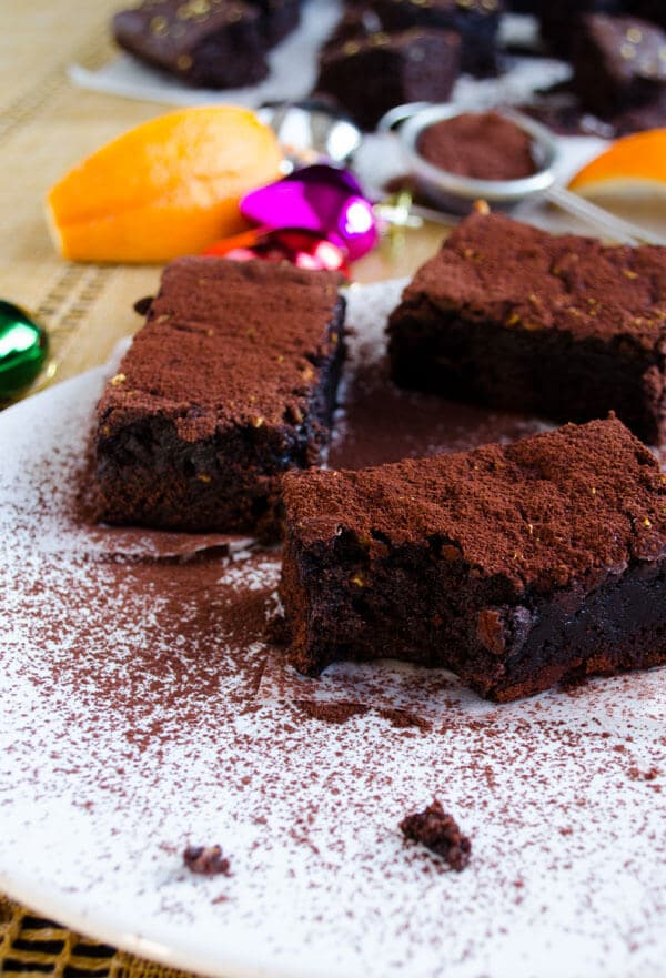Orange Chocolate Brownies   giverecipe.com   #brownies #chocolate #orange
