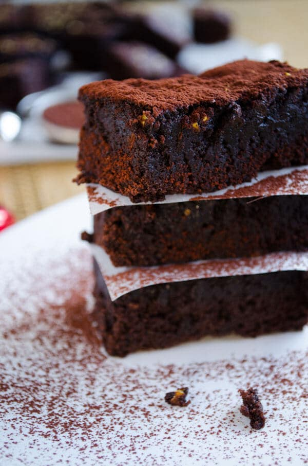 Orange Chocolate Brownies 5