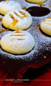 Orange Flour Cookies | giverecipe.com | #cookies #orange #dessert #sweet