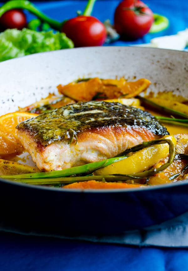 Stir Fry Salmon with Orange | giverecipe.com | #salmon #orange #citrus #seafood